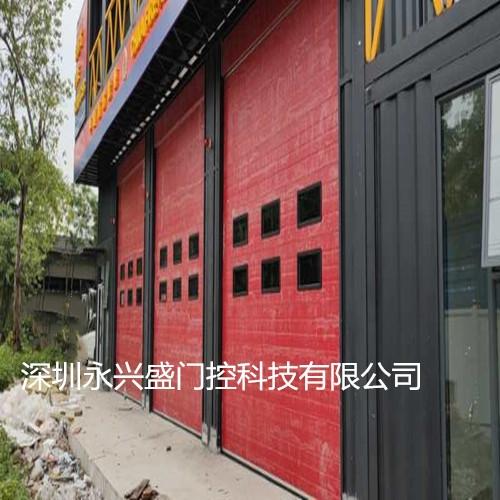 广州海珠消防联动滑升门